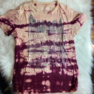 Aeropostale Custom Bleached Purple T Shirt Medium